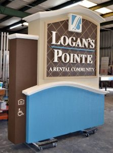custom sandblasted monument sign