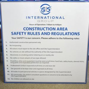 Custom Safety Sign